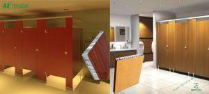 Public Toilet Partition Aluminum Honeycomb Panel pictures & photos