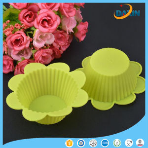 Yellow Flower Shape Horse Fern Cup Silicone Cake Mold pictures & photos