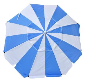 7 FT Premium Heavy Duty Fiberglass Beach Umbrella Upf 100+
