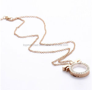 Ear Open Gold Necklace Designs in 25 Grams and Fashion Charm Doll Necklace pictures & photos