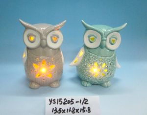 Color-Changing LED Lighted Ceramic Owl for Easter Decoration pictures & photos