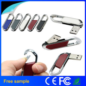 OEM Classic High Quality Leather USB Flash Drive 8GB 16GB pictures & photos
