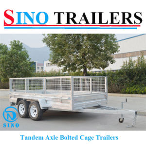 12*6 Heavy Duty Galvanized Box Cage Utility Trailer pictures & photos