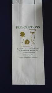 Hospital Paper Bags Rx Prescription White Pharmacy Bag pictures & photos