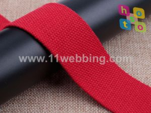 38mm Polyester Cotton Webbing for Bags and Garment Accessories pictures & photos