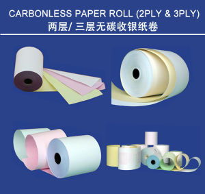 Carbonless Cash Register NCR Receipt POS Paper Roll pictures & photos