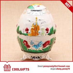 New Russia Style Egg Shaped Decoration Bamboo Sticker Holder pictures & photos