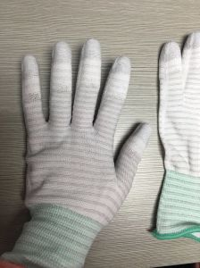 PU Coated Gloves Palm Coated Cleanroom Gloves pictures & photos