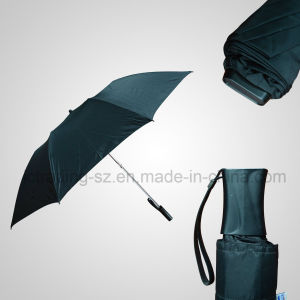 2 Section Manual Open Flat Umbrella pictures & photos