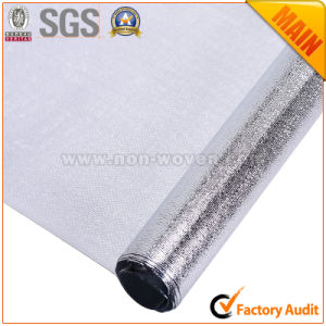 Metalic Film Silver Laminated Fabric Tablecloth pictures & photos