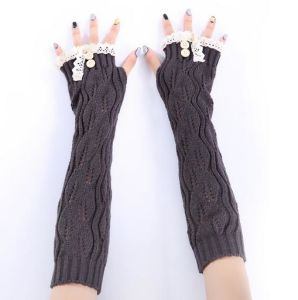 2017 Women Warm Fingerless Gloves pictures & photos