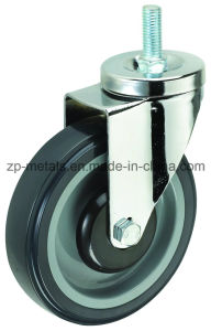 Medium Sized Biaxial PU Screw Caster Wheels