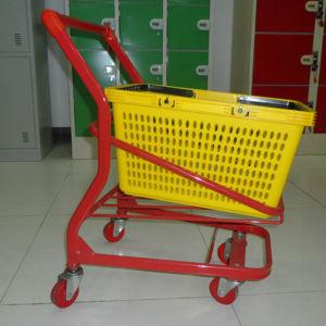 Supermarket Metal Kids Hand Shopping Cart pictures & photos