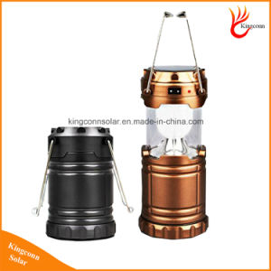 High Quality 6 LED Hand Lamp Rechargeable Collapsible Solar Camping Lantern Tent Lights for Outdoor Lighting pictures & photos