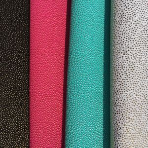 Shinny DOT PVC Leather for Handbag/Upholstery pictures & photos
