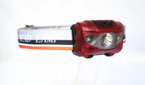 Portable 3 AAA Batteries LED Head Light (RED) pictures & photos