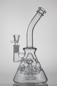 Beaker Pipes Glass Pipes Recycler Oil Rigs Pipe Fab Egg Glass Water Pipe Glass Smoking Pipes Hookahs 2 Function 14.5mm Joint pictures & photos