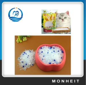with Blue Color Silica Gel Cat Litter