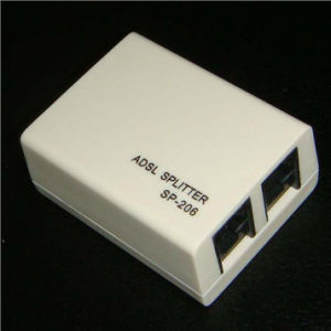 Telephone Rj11 Line ADSL Splitter Modem Micro Filter Splitter pictures & photos