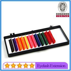 Wholesale Colorful Eyelash Extensions, Rainbow Eyelashes pictures & photos