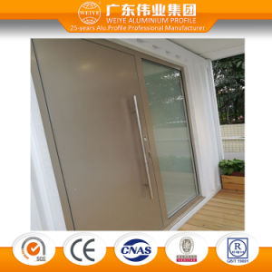 90 Series Thermal Break Aluminium Plate Swing Door with Decoration Glass pictures & photos