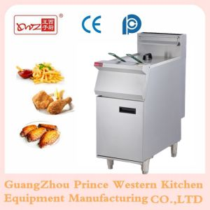 Freestanding Stainless Steel Commerical Gas Fryer with Temperature Controller pictures & photos
