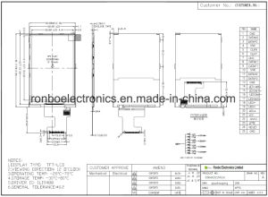 """4.0"""" 320X480 Mipi TFT LCD Module, Ili9488, 25pin for POS, Doorbell, Medical pictures & photos"""