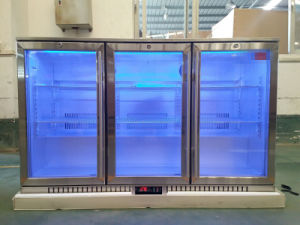 Triple Stainless Steel Beer Chiller Commercial Refrigerator Back Bar Cooler pictures & photos