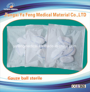 Various Size Available Cotton Gauze Ball with Detectable X-ray Thread pictures & photos