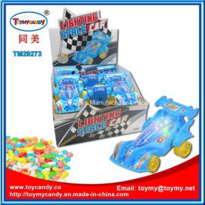 2017 Good Selling Products Lighting Racing Car Toy with Candy
