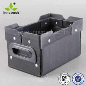 Plastic PP Turnover Box with Corner and Handle for Transportation pictures & photos