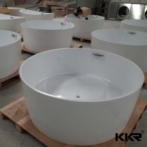 Anti-Pollution White Matt Finish Artificial Stone Freestanding Bathtub pictures & photos