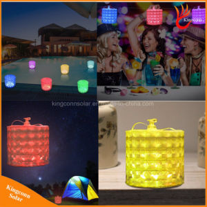 Colorful 10 LED RGB Color Changing Outdoor Inflatable Solar Camping Lantern Light pictures & photos