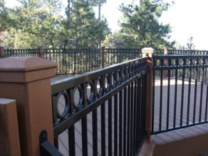 Powder Coated Aluminum/Galvanized Steel Railings /Cheap Deck Railing (ISO 9001 factory) pictures & photos