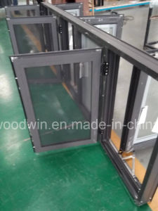 Foshan Woodwin Best Quality Tempered Glass Aluminum Window with Ss Screen pictures & photos