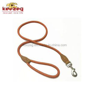 High Quality Hand Made Nylon/ Durable Cow Leather Dog Rope Leash (KC0109) pictures & photos