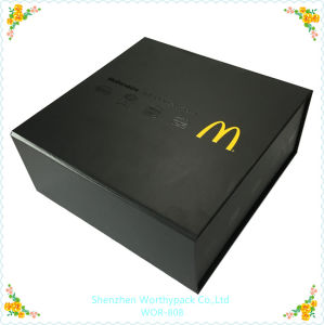 Matt Black Cardboard Gift Box with Card Tray Interior pictures & photos