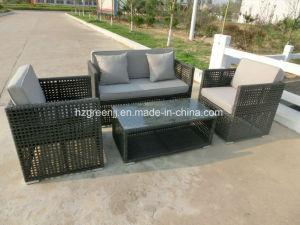 4 Pieces Conversation Sofa Set Rattan Outdoor Furniture pictures & photos