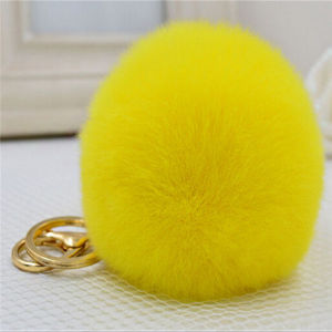 China Wholesale Colorful Rabbit Fur Ball Keyrings pictures & photos