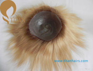 Silk Straight Remy Human Hair Men′s Hairpieces in T-Color pictures & photos