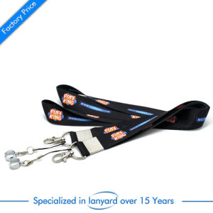 Wholesale Fashion Custom Full Color Printed Flat Polyester Lanyard pictures & photos