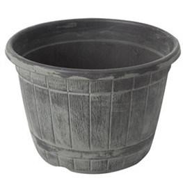 Huge Plastic Pot Wine Barrel Shape Flower Pot pictures & photos