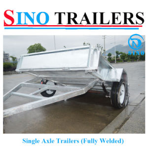 Utility Fully Welded Single Axle Box Trailers pictures & photos