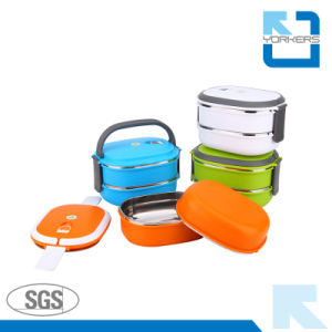 2-Layer Stainless Steel Lunchbox & Food Container pictures & photos