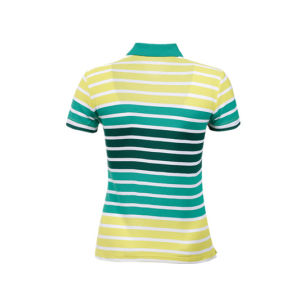 China Short Sleeve Striped Women Wicking Polo Shirts pictures & photos
