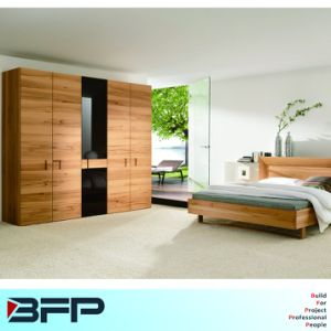 Bedroom Furniture Wooden Glass Wardrobe Cabinet pictures & photos