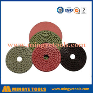 80mm-200mm Resin Boned Diamond Polishing Pad for Stone / Granite / Marble Floor pictures & photos