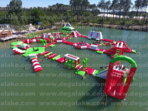 2017 Hot Sale Floating Inflatable Red Water Park pictures & photos