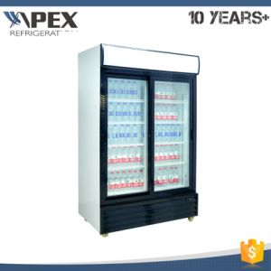 Double Sliding Door Upright Cooler pictures & photos