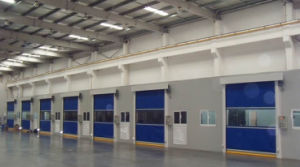 Automatic Commercial Telescopic PVC Fast Door pictures & photos